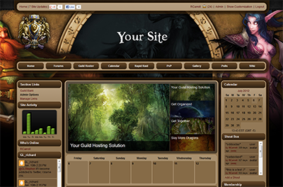 World Of Warcraft Site Templates