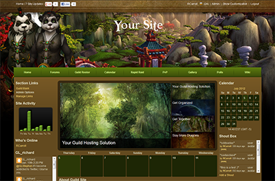 world of warcraft site templates gamer launch