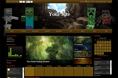 Minecraft Site Templates - Gamer Launch